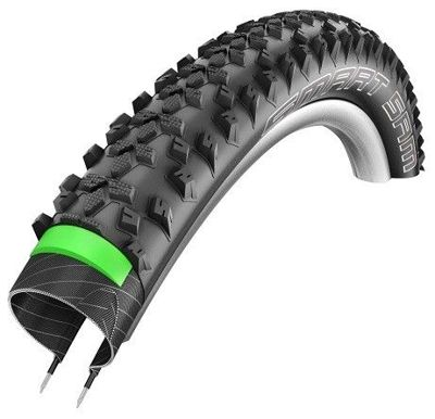Schwalbe SMART SAM PLUS Wire Tire 26x2.10 GreenGuard 67 TPI Black