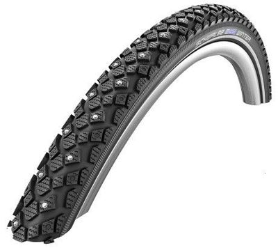 Schwalbe WINTER Wire Tire 28x1-1/2, 700x38B K-Guard, 116 kolców 50 TPI Black-Reflex