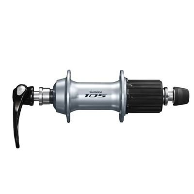 Shimano ACHTERNAAF,105,36H,10/11S,SIL QR:168MM(SILVER)