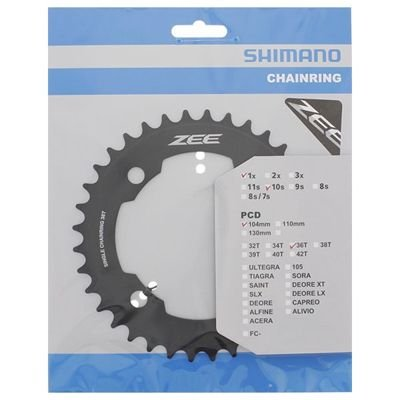 Shimano CHAINRING FC-M640 36T BLACK                                                ZEE