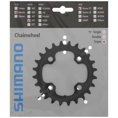 Shimano CHAINRING FC-M770-10 24T-AE 10SPEED                                        Deore XT