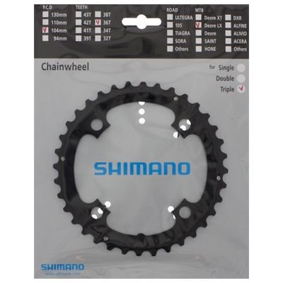 Shimano CHAINRING FC-T661 36T BLACK                                                Deore LX