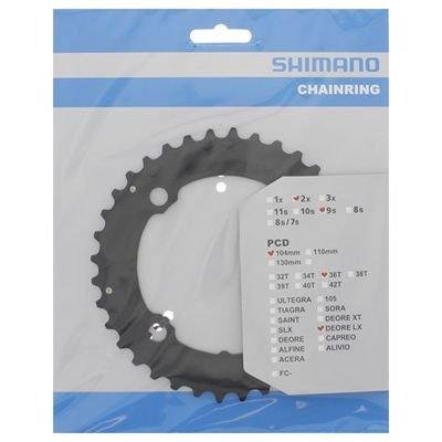 Shimano CHAINRING M810-2/665 36T BLACK 104MM  BCD, 9SPEED                          Saint
