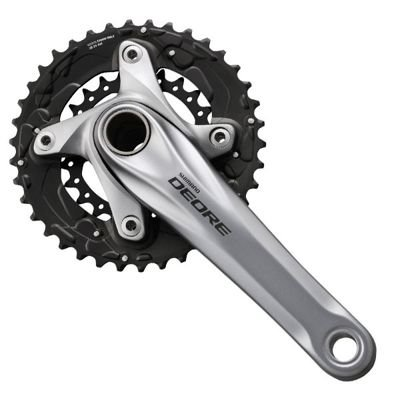 Shimano CRANKSET DEORE,175MM,BLACK DBL 10S,40X28T W/O CG,W/BB                      Deore