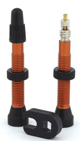 Trezado valves for tubeless, orange, 2pcs.