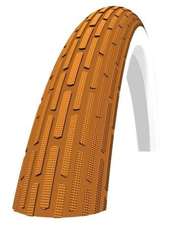 Schwalbe FAT FRANK Drahtreifen 28x2.0 KG Brown/Whitewall-Reflex