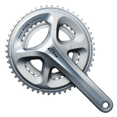 Shimano CRANKSET 105,175MM,53X39T,SIL 11-SPEED,WO/BB
