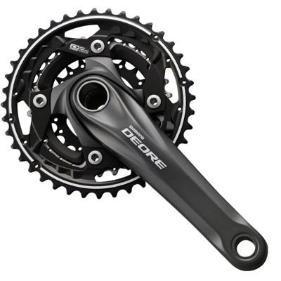 Shimano CRANKSET DEORE,175MM,BLACK CPT 10S,40X30X22T W/O CG,W/BB                   Deore