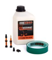 Trezado Tubeless Ready KIT, silver valves, 26 mm tape