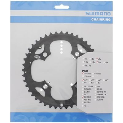 Shimano CHAINRING FC-M530 44T BLACK FOR FC-M530-L                                  Deore