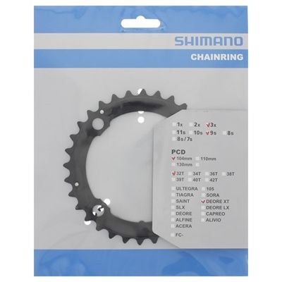 Shimano CHAINRING FC-M760 32T BLACK                                                Deore XT