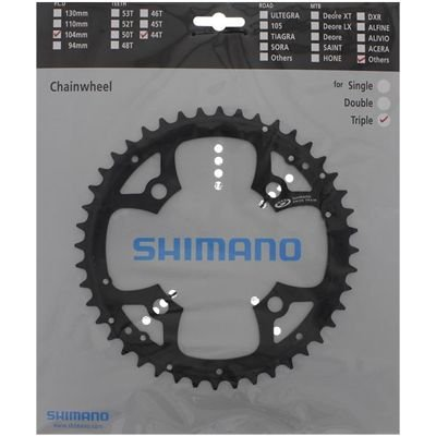 Shimano CHAINRING FC-M540 44T BLACK FOR CHAINGUARD                                 Deore