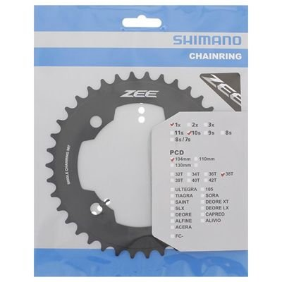 Shimano CHAINRING FC-M640 38T BLACK                                                ZEE
