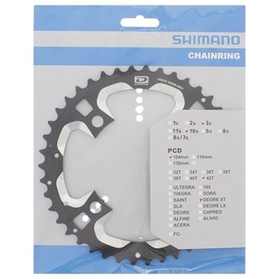 Shimano CHAINRING FC-M770-10 42T-AE 10SPEED                                        Deore XT